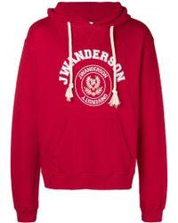 JW Anderson - University Print Hooded Sweatshirt - Lyst