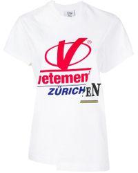 Vetements - Cut-up Cotton T-shirt - Lyst