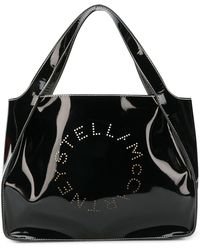 443e618dce Stella Mccartney Stella Logo Tote in Gray - Lyst