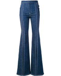 Chloé - Cotton Flare Denim Jeans - Lyst