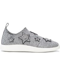 Giuseppe Zanotti Sneakers With Embroidered Stars