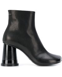 MM6 by Maison Martin Margiela - Leather Ankle Boots - Lyst