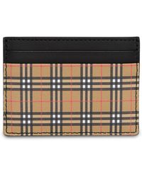 Burberry - Check Card Holder - Lyst