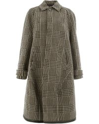 Balenciaga - Prince On Wales Scooter Carcoat - Lyst