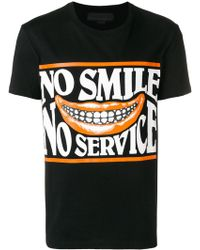 Stella McCartney - No Smile No Service Print Cotton T-shirt - Lyst