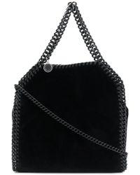 Stella McCartney - Falabella Mini Velvet Tote Bag - Lyst