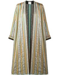 Forte Forte - Striped Overcoat - Lyst