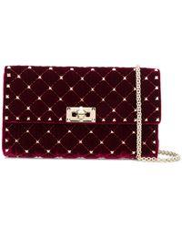 Valentino - Rockstud Spike Velvet Shoulder Bag - Lyst