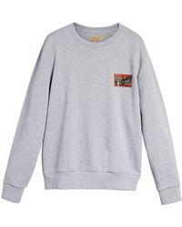 Burberry - Crew-neck Cotton Sweatshirt With Ticket And Graffiti Print - Lyst