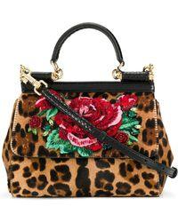 796e5861c0e9 Dolce   Gabbana Mini Miss Sicily Sequined Shoulder Bag in Metallic ...