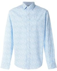 MICHAEL Michael Kors - Slim It Shirt With Printed Collar - Lyst