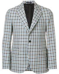 Gabriele Pasini - Check Print Cotton Jacket - Lyst