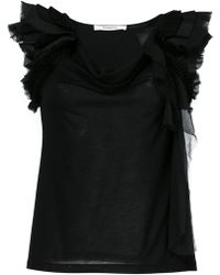 Givenchy - Frill-trim Off-shoulder Blouse - Lyst