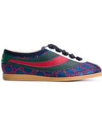 Gucci - Falacer Gg Trainers With Web - Lyst