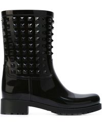 Valentino - Rubber Rain Ankle Boots - Lyst