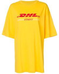 Vetements - Dhl Logo Cotton Sweatshirt - Lyst