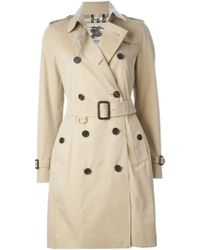 Burberry - 'kensington' Belted Trench Coat - Lyst