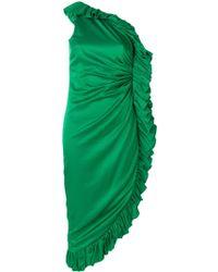 Attico - Midi Ruffle Dress - Lyst
