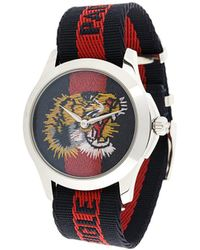 Gucci - Watch With Tiger Clock Face - Lyst