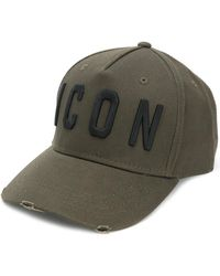 DSquared² - Hat With Visor And Written - Lyst