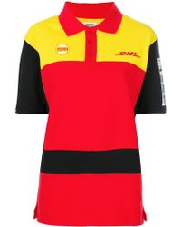 Vetements - Dhl Logo Cotton Polo Shirt - Lyst