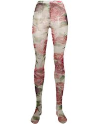 Dolce & Gabbana - Printed Tulle Socks - Lyst