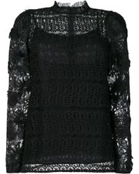 MICHAEL Michael Kors - Lace Embroidered Top - Lyst