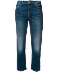 Emporio Armani - Cropped Denim Jeans - Lyst