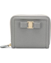 Ferragamo - Vara Leather Wallet - Lyst