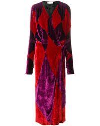 Attico - Wrap Long Dress - Lyst