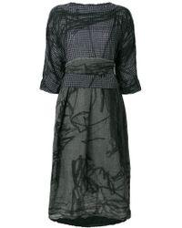 Daniela Gregis - Wool Dress With Sheel Design - Lyst