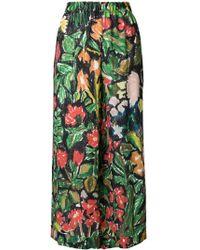 Daniela Gregis - Printed Silk Trousers - Lyst