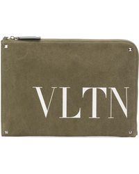 Valentino - Leather Document Case - Lyst