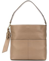 DKNY - Essex Leather Satchel Bag - Lyst