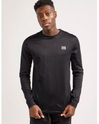 Antony Morato - Mens Plaque Long Sleeve T-shirt Black - Lyst