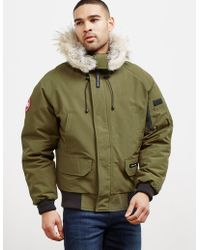 Canada Goose - Mens Chilliwack Padded Bomber Jacket Green - Lyst
