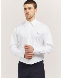 Vivienne Westwood | Mens Poplin Long Sleeve Shirt White | Lyst