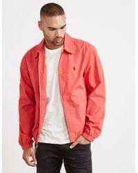 Polo Ralph Lauren - Poplin Jacket Red - Lyst