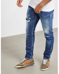 DSquared² - Mens Cool Guy Zip Jeans Blue - Lyst