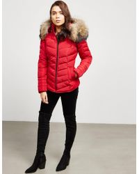 FROCCELLA - Womens Chevron Padded Jacket Red - Lyst