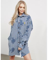 Vivienne Westwood - Womens Anglomania Chaos Shirt Dress Blue - Lyst