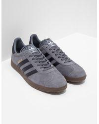 new style 33193 ccedc adidas Originals - Gazelle Grey - Lyst