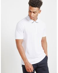 HUGO - Mens Dyler Short Sleeve Polo Shirt White - Lyst