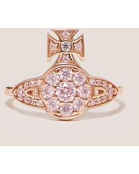 Vivienne Westwood - Womens Anatoly Orb Ring Pink - Lyst