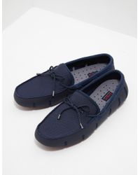 Swims - Mens Braid Lace Loafers Navy Blue - Lyst
