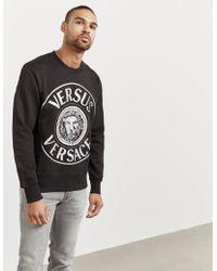 Versus - Mens Holographic Lion Sweatshirt Black - Lyst