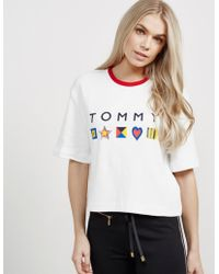 Tommy Hilfiger - Womens Abby Short Sleeve T-shirt - Online Exclusive White - Lyst