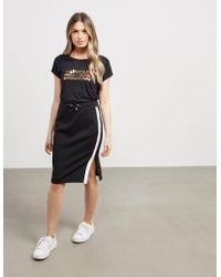 Barbour - Womens International Jersey Skirt - Online Exclusive Black - Lyst