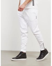 HUGO - Mens Duros Cuffed Track Trousers - Online Exclusive White/white - Lyst