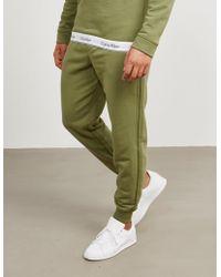 Calvin Klein - Mens Tape Fleece Trousers Olive - Lyst